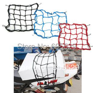 Motorcycle Bike Luggage Cargo 6 Hook Bungee Net Helmet Holder Carrier Mesh