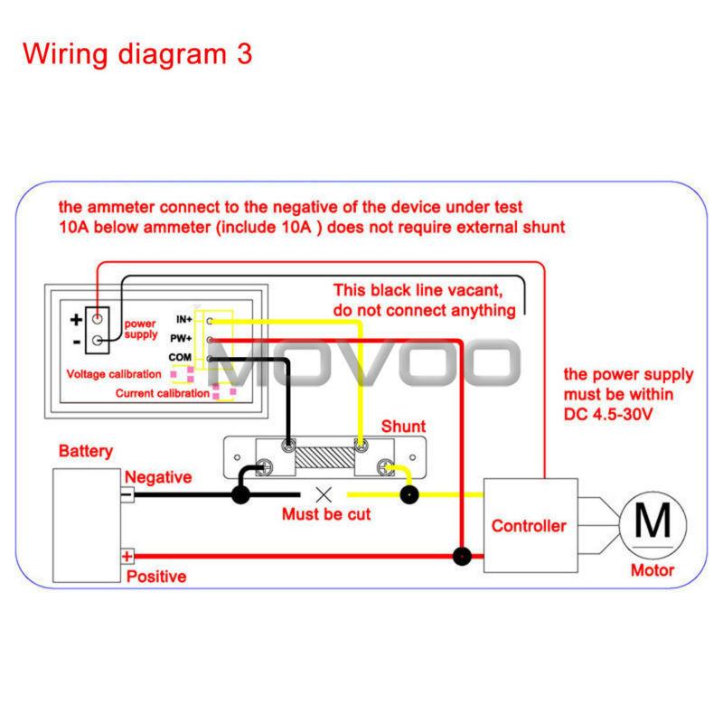 Wholesale2in1 Volt Meter Dc 0100v100a Blue Red Led Digital Rhdhgate: 12v Amp Meter Wiring Diagram At Oscargp.net