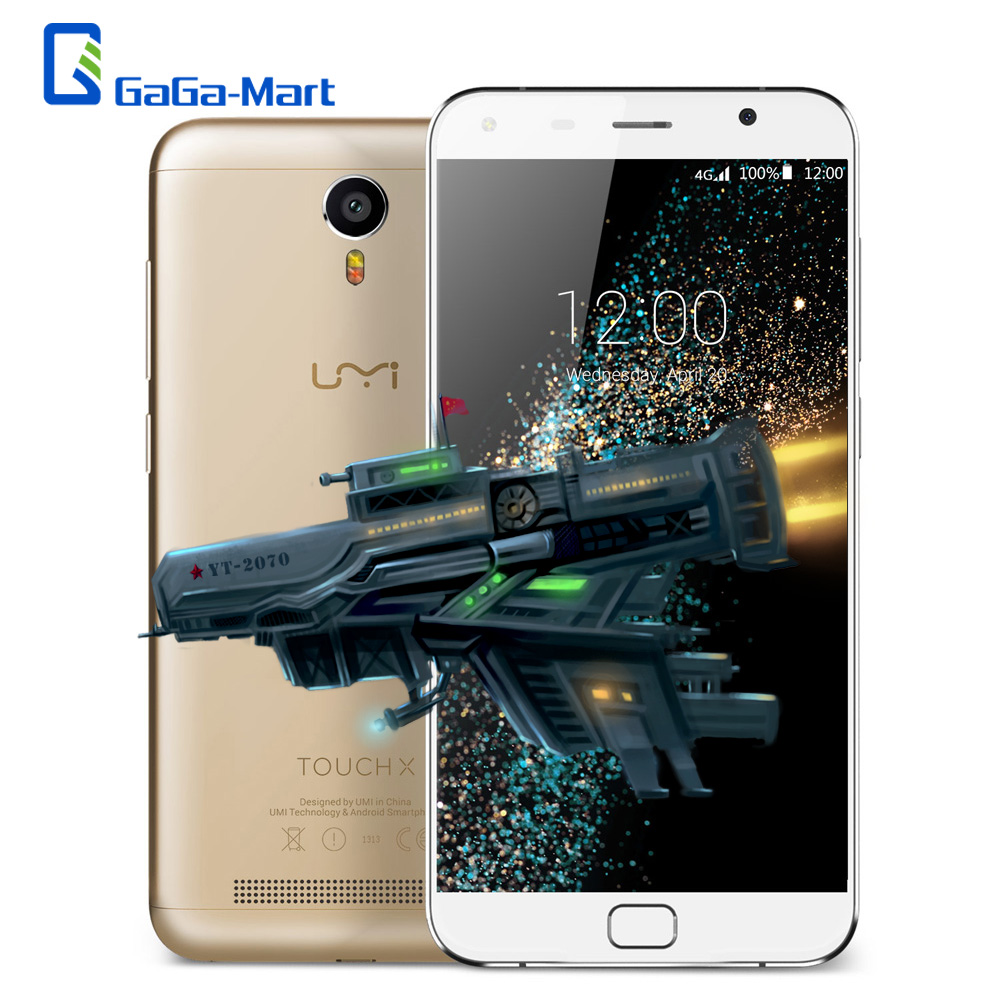 """Original UMI Touch X 5.5"""" 4G FHD Smartphone Android 6.0 Quad Core MTK6735A 1.3GHz 2GB+16GB 5MP 13MP Flash LED 4000mAh Cellphone(China (Mainland))"""
