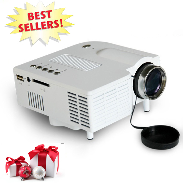 Mini LED Projector HDMI USB VGA SD Home Used Picture Projecteurs 320x240pixel Portable Lowest Cost Proyector For Best Gift(China (Mainland))