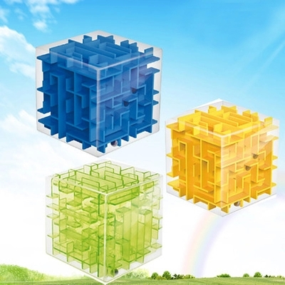 Cube 3D Maze Puzzle Cubic Labyrinth Style Puzzle Game Plastic Magic Cube Creative Development Educational toy(China (Mainland))
