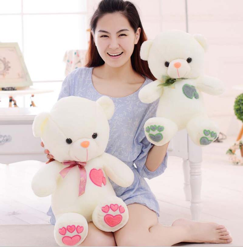 45cm New Kawaii Teddy Bear Stuffed Plush Animals Children Stuffed Toy,Toys For Kids Children Plush Toys New Year Gift(China (Mainland))