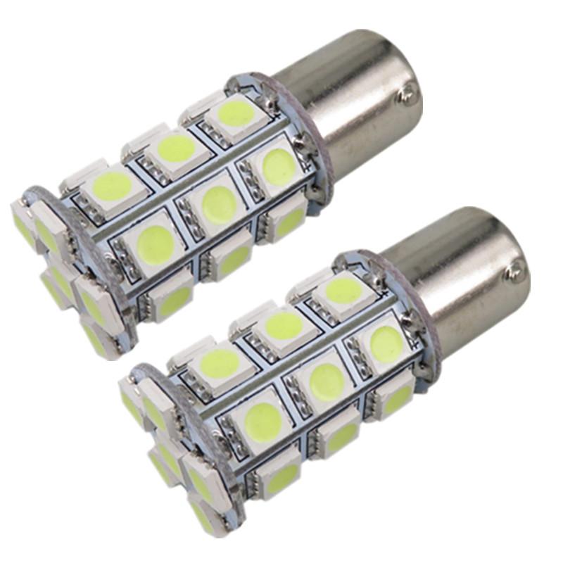 White BA15S 1156 Led 27SMD 5050 LED Lamp Car Tail Reverse Backup Light Turn Signal Light Bulb Trailer Boat Interior Light 10PCS