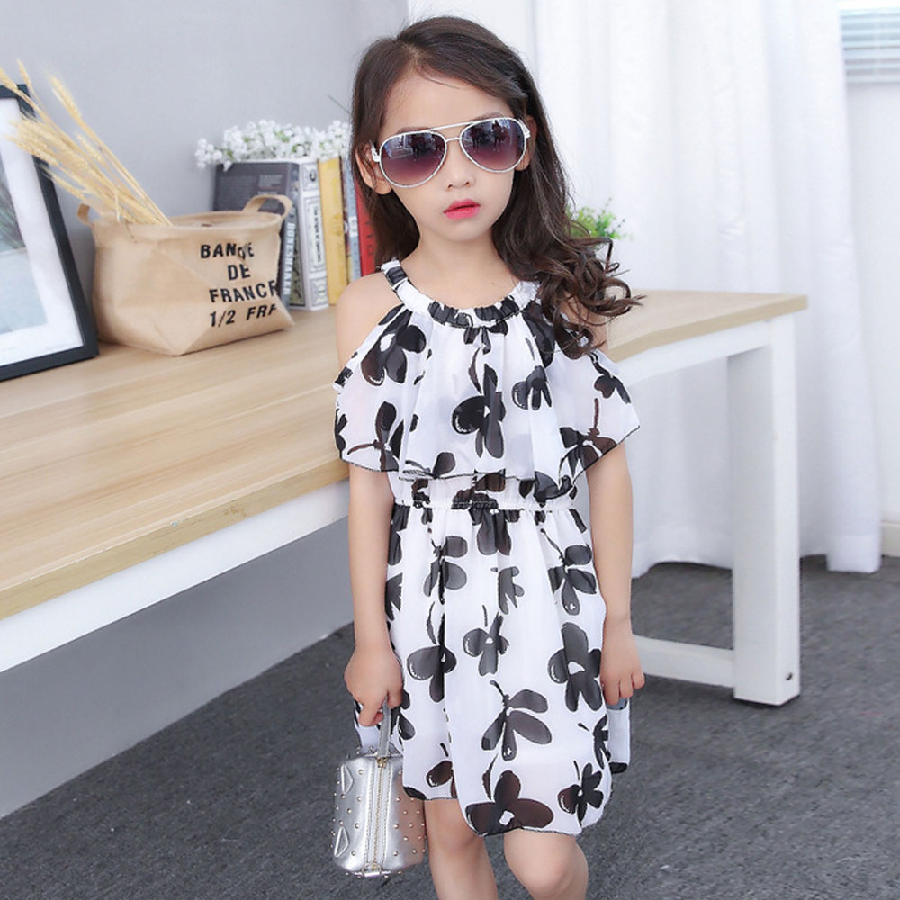 Little Girl Dress Summer 2016 New Chiffon Costume Fashion Design Princess Party Dress Formal Toddler Children Maxi Short-sleeved(China (Mainland))