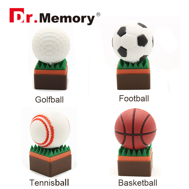 ball usb flash drive 64g pen drive 32g pendrive 16g 8g 4g golf ball basketball tennis ball pendrive Usb2.0(China (Mainland))