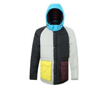 Male Fashion Winter Coat Men Casual Patchwork Warm Parka Plaid Overcoat