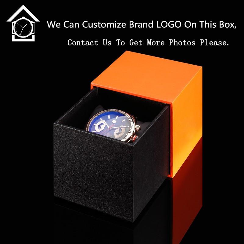 Wholesale Rubber Original Brand Watch Box Rectangle Watch Storage Box Fashion Luxury Watch Gift Case Men Can Customize LOGO A055(China (Mainland))