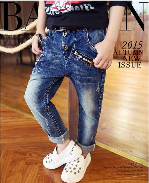 Новый горячая распродажа весна осень и зима дети джинсы мальчик детские брюки детей ...