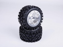 Buy 1/5 scale Baja 5B Alloy wheel hub terrain tyres Rear 2pcs/set 95258 hpi km rv baja for $160.55 in AliExpress store