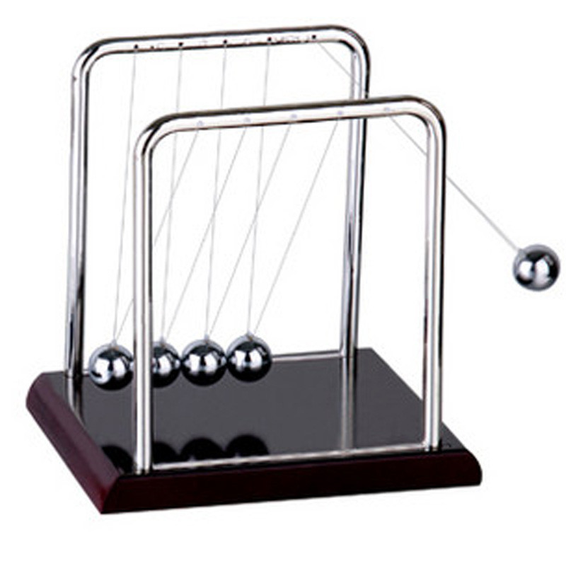 Newton Balance Ball Physic Educational Supplies Cradle Steel Teaching Science Desk Toys kit For Kids Fun Toys T0427 P20 0.5(China (Mainland))
