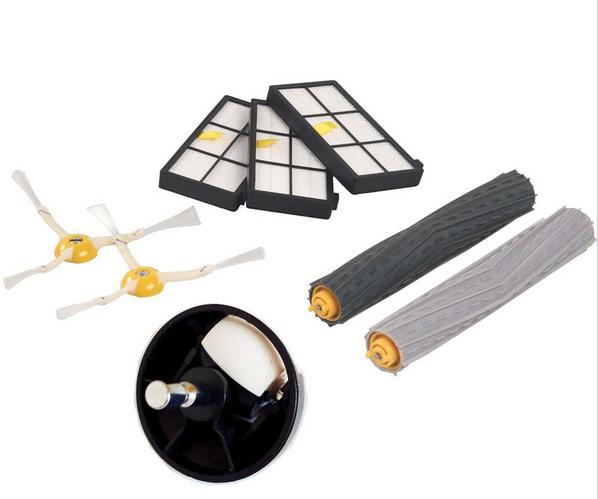Tangle-Free Debris Extractor Brush +hepa dust filter+ front wheel kit for iRobot Roomba 800 870 880 980 robot Accessories(China (Mainland))