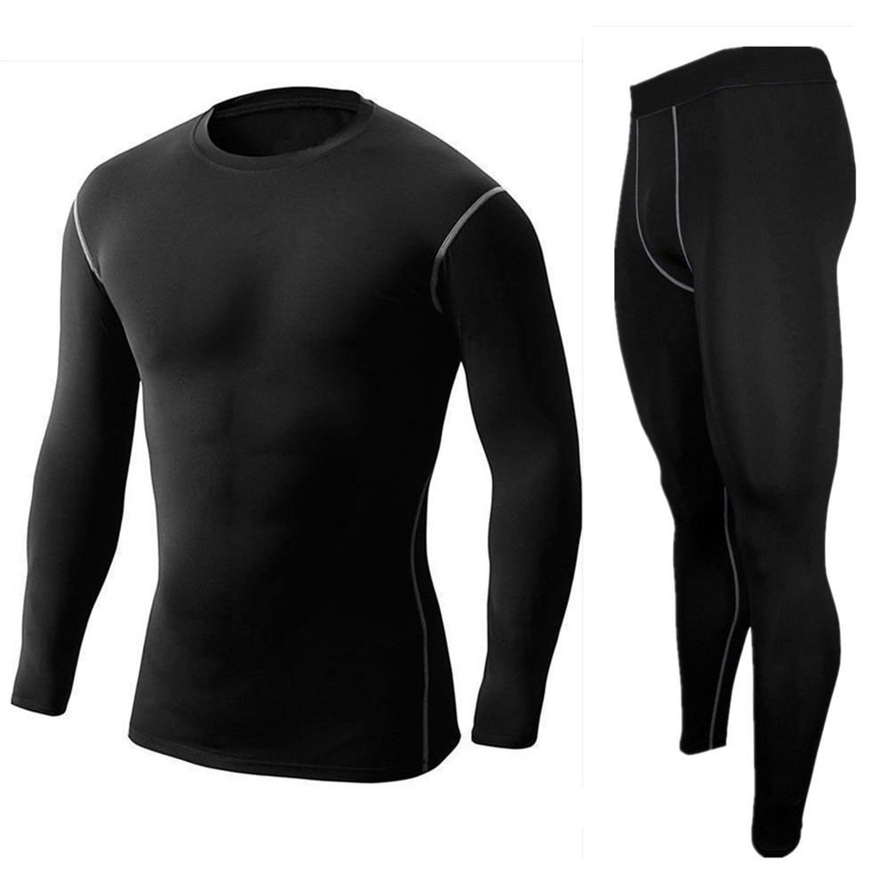 Mens Boys Sport Set Breathable+Quick-Drying Jersey Suit Yoga Base Layer mens training gym long sleeve Shirt & Compression tights(China (Mainland))