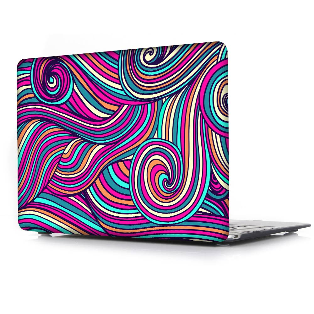Colors Waves Ripple Print Case For Macbook Air 11 13 Pro