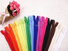 100 Pcs Lots Color Nylon Coil Zippers Tailor Sewing Tools 9 Inch nylon zippers apparel bags tailor accessories  24cm length(China (Mainland))
