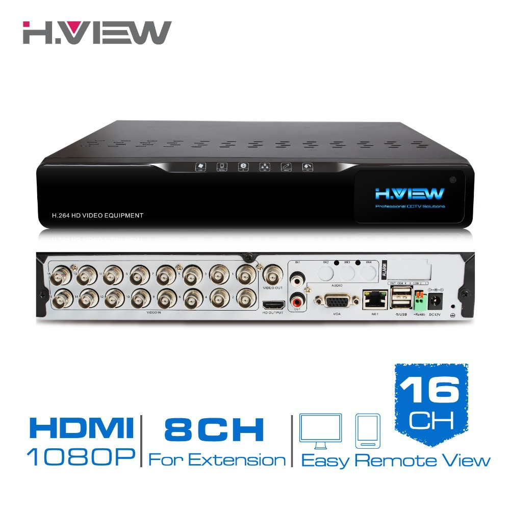 H.View 16 Channel Digital Video Recorder CCTV DVR H.264 HDMI Video Output Support iPhone Android Phone NO HDD(China (Mainland))