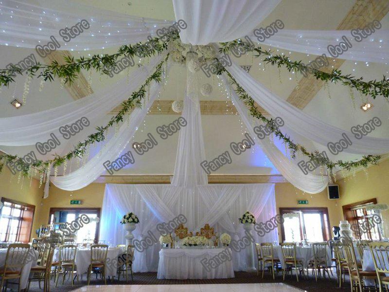 canopy wedding decoration white wedding ceiling draper canopy drapery for decoration - Large Canopy 2015