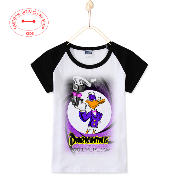 2016 Top Fashion Children Clothes Duck Kids T-Shirts Boys 100% Cotton Cartoon Anime Print T Shirt Girl Tops 3T-10T Free Shipping(China (Mainland))