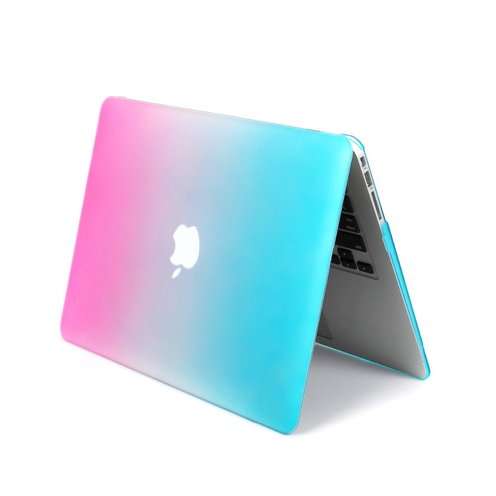 """Fashion Rainbow Laptop Cover Case For Macbook Air 13.3"""" Notebook Protection Cover Gradient Color(China (Mainland))"""