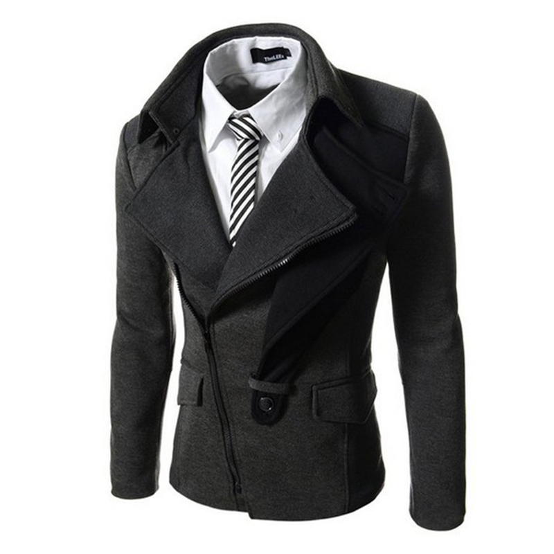 2016 New Fashion Mens England Style Casual Blazer Masculino Solid Suit Jacket Slim Fit Blazers ...