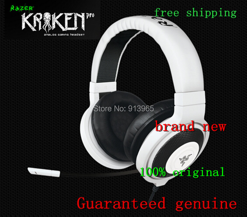 100% original Razer Kraken Pro White colorGaming Headset,&headphones, Brand New in BOX, Fast& best selling+ by hk post(China (Mainland))