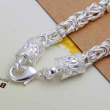 Free shipping  silver jewelry silver plated bracelet fine fashion bracelet top quality wholesale and retail SMTH096(China (Mainland))