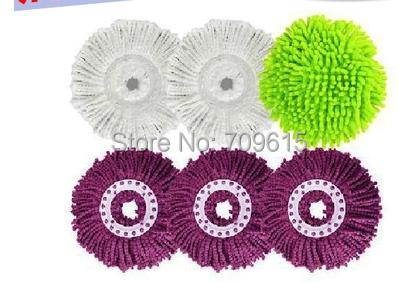 General pier head mop head replacement cotton chenille mop head head rotation 10pcs/parcel(China (Mainland))