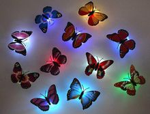 Special Offer Real No Christmas Lights Plasma Salt Lamp 1pc/lot Beautiful Butterfly Led Night Light Lamp with Suction Pad(China (Mainland))