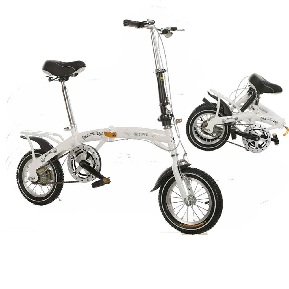12 small size single speed folding bicycle children 39 s mini foldable bike in bicycle from sports. Black Bedroom Furniture Sets. Home Design Ideas
