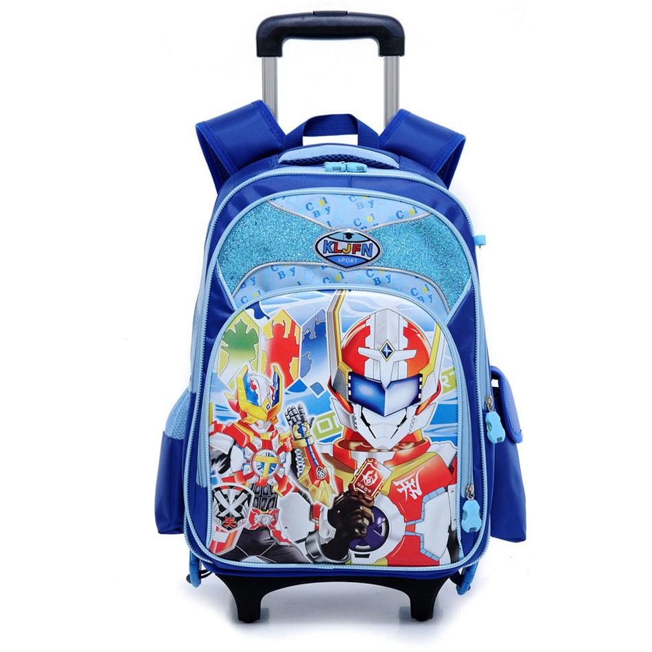 Luggage & bags School Boys girls randoseru kids trolley school bag Backpack bookbags rolling backpack - dingda Luggage&bags Co. store