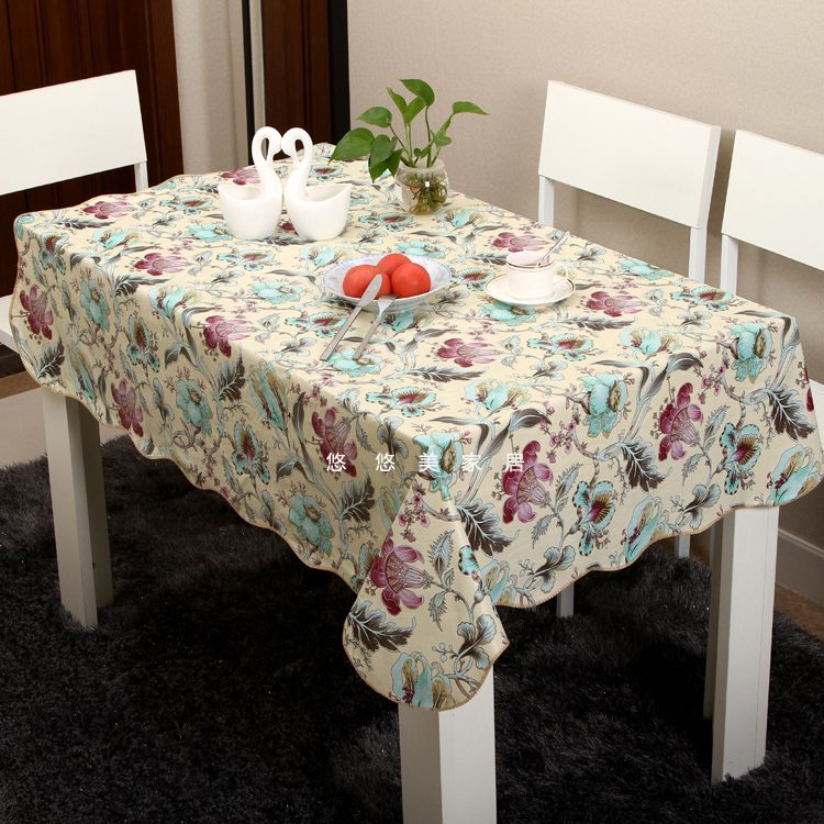 Pvc waterproof oil tablecloth table cloth disposable print table cloth heat insulation pad plastic cloth(China (Mainland))
