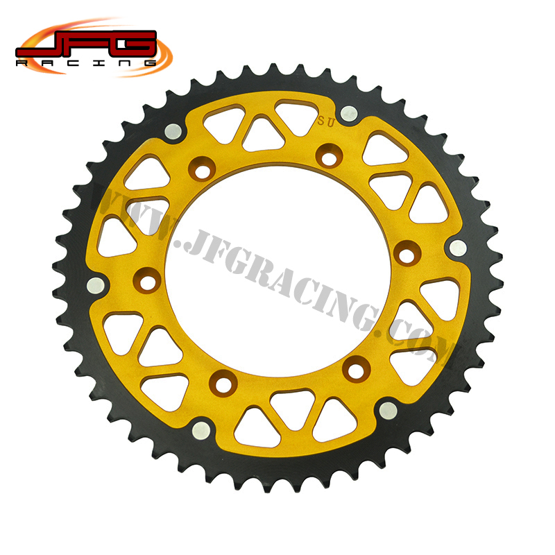 FREE SHIPPING MOTOCROSS RM RMZ  OFF ROAD ENDURO MOTORCYCLE SUPERMOTO CNC CHAIN SPROCKETS<br><br>Aliexpress