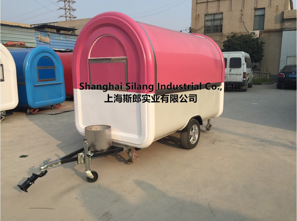 Pink and white food cart Mobile kitchen(China (Mainland))