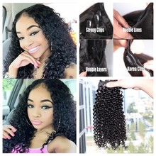 Buy 2016 New Coming Clip Natural Curly Hair Extensions 7A Grade 100g Virgin Brazilian Hair Clip Human Hair Extensions for $37.00 in AliExpress store