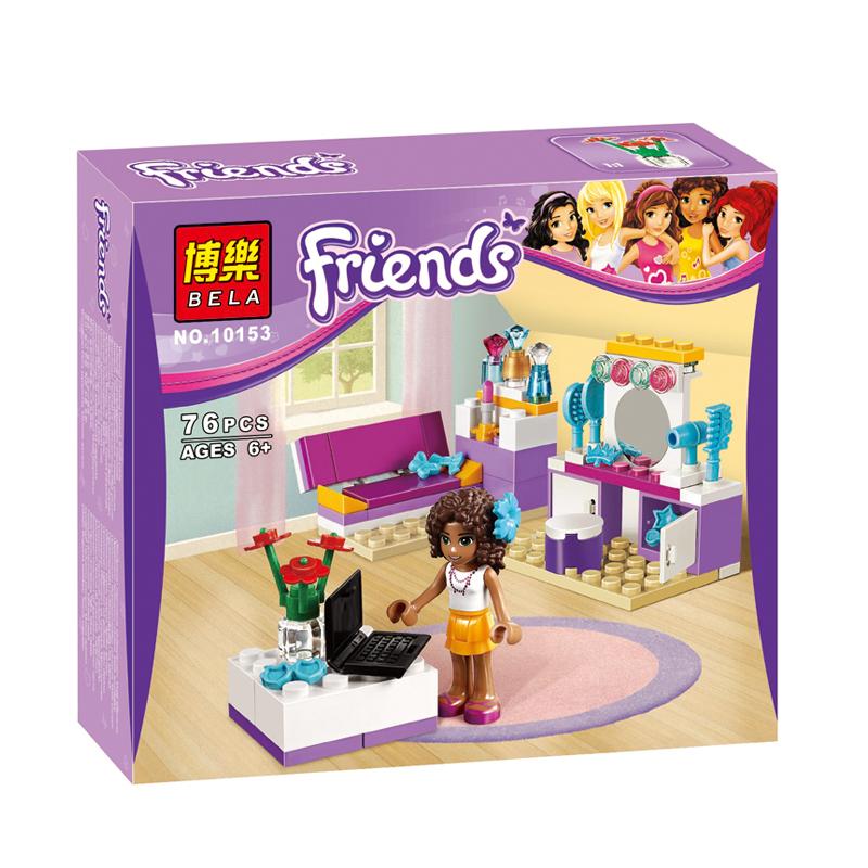 Girls Friends BELA 76pcs Andrea's Bedroom Building Block toy Kids Toys Compatible action minifigures Develop Intellectual bricks(China (Mainland))