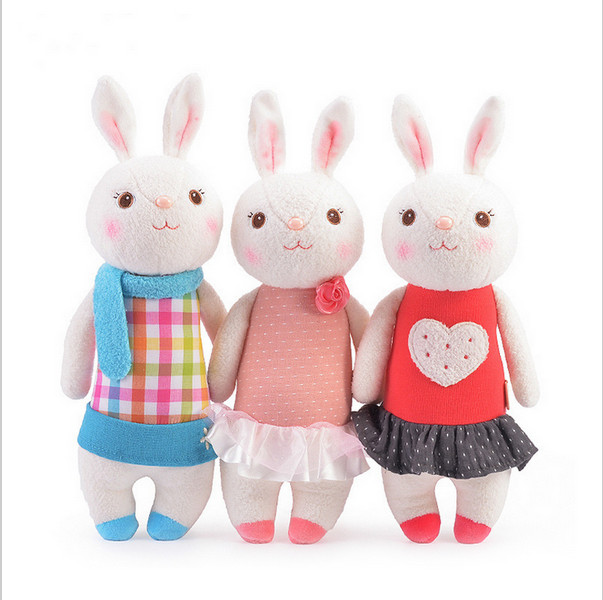 Tiramisu rabbit plush toys doll kids gifts 8 style,37cm Bunny Stuffed Animals Lamy Rabbit Toy with Gift Boxes, Birthday Gifts(China (Mainland))