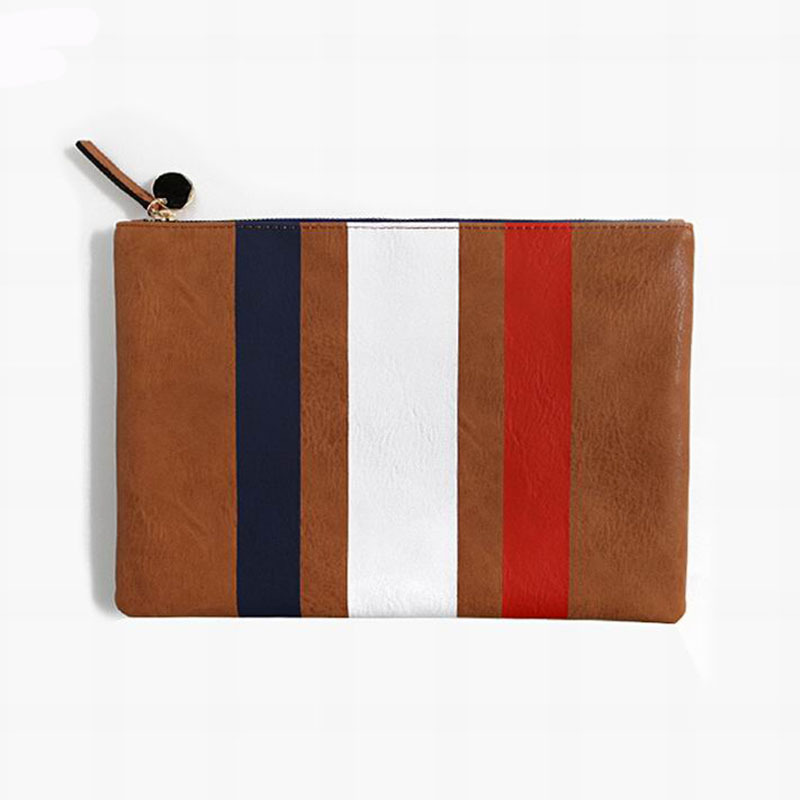 Korean 2015 new large envelope clutch bag retro women striped handbags messenger bags package all-match female bag(China (Mainland))