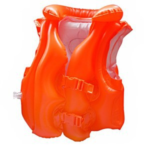 INTEX Child Safety thick PVC inflatable life jacket swimsuit swim Vest Kids Inflatable Life Vest Baby Swimming Vest Clothing(China (Mainland))