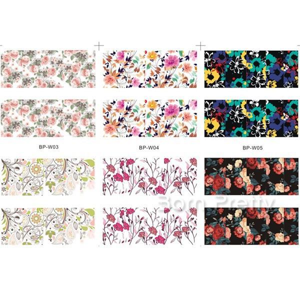10 Sheets/Set Flower Owl Nail Art Water Decals Set Transfer Sticker