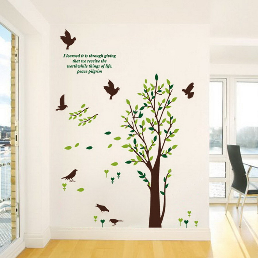 House Decor Picture More Detailed Picture About DIY Removable - Diy wall decor birds