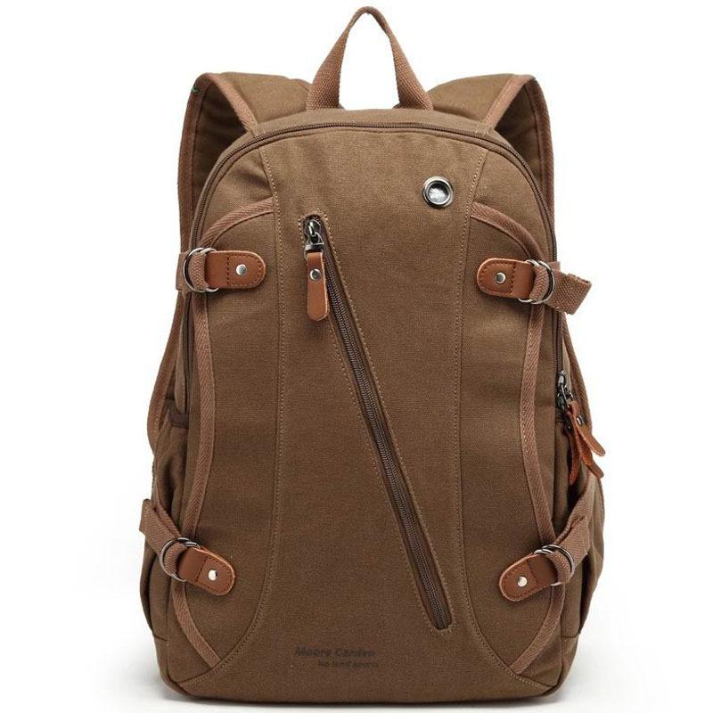 Casual Canvas Men Backpack Retro Vintage Male Students School Bags Outdoor Man Shoulder Laptop Travel Bag - garden store