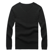 Solid Color Pullover Men V Neck Sweater Men Long Sleeve Shirt Mens Sweaters Wool Casual Dress Brand Cashmere Knitwear Pull Homme(China (Mainland))