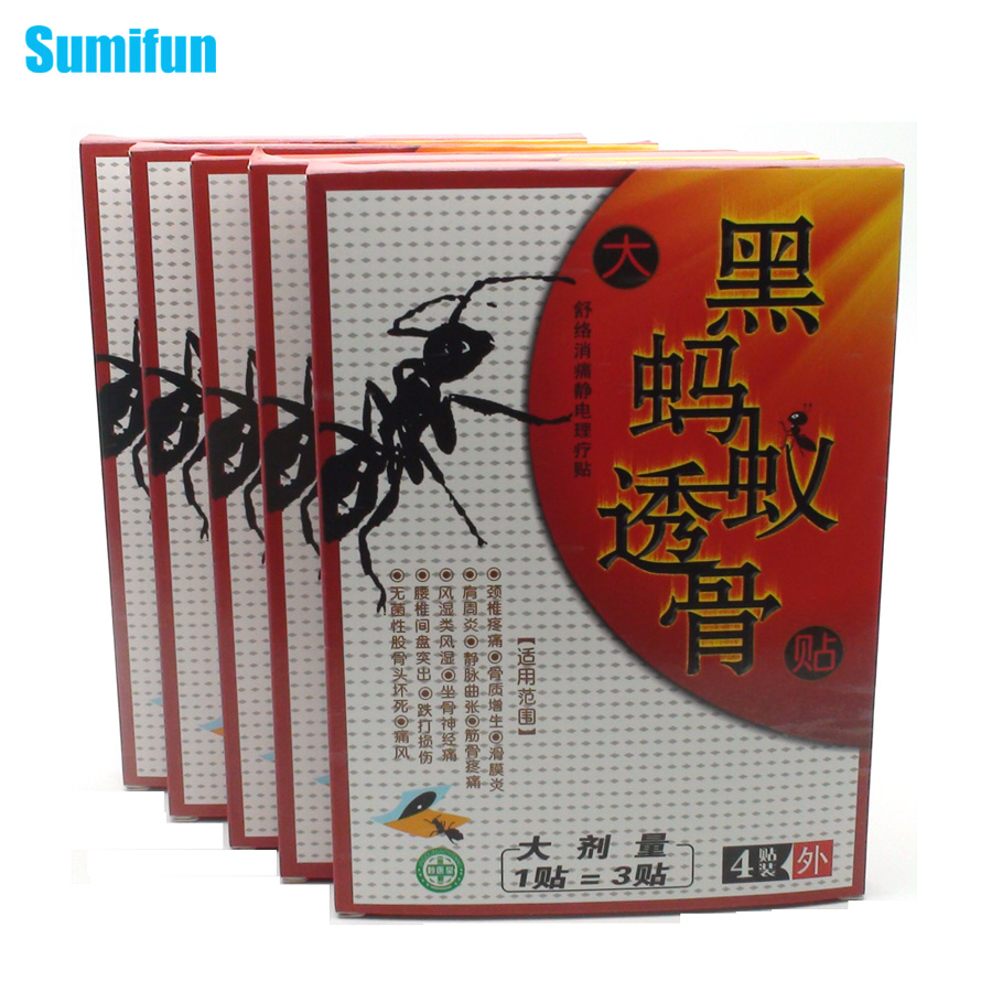 20Pcs/5Boxes Sumifun Chin Medicated Plasters Pain Relief Patch Tens Foot Back Neck Shoulder Body Massager White Tiger Balm C378(China (Mainland))
