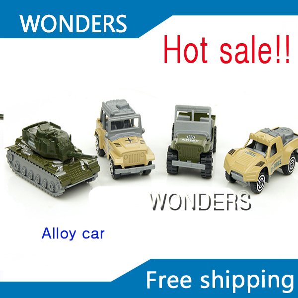 4 pcs/lot variy type metal alloy vehicles action diecast tank jeep suvs Military classic model best gift for kids(China (Mainland))