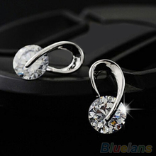 Women s Jewelry Gift Gold Plated Zircon Crystal Earring Eardrop Earbob Ear Studs 4CYZ