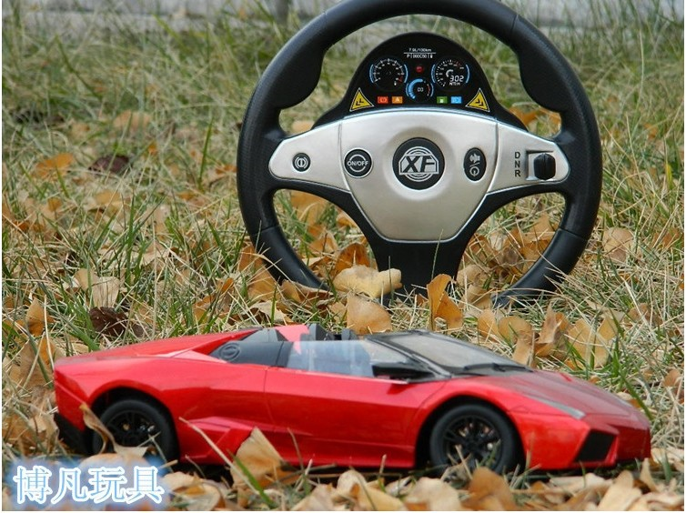 steering wheel remote control toys Police car/race car learning & education wireless remote control car toys for children(China (Mainland))