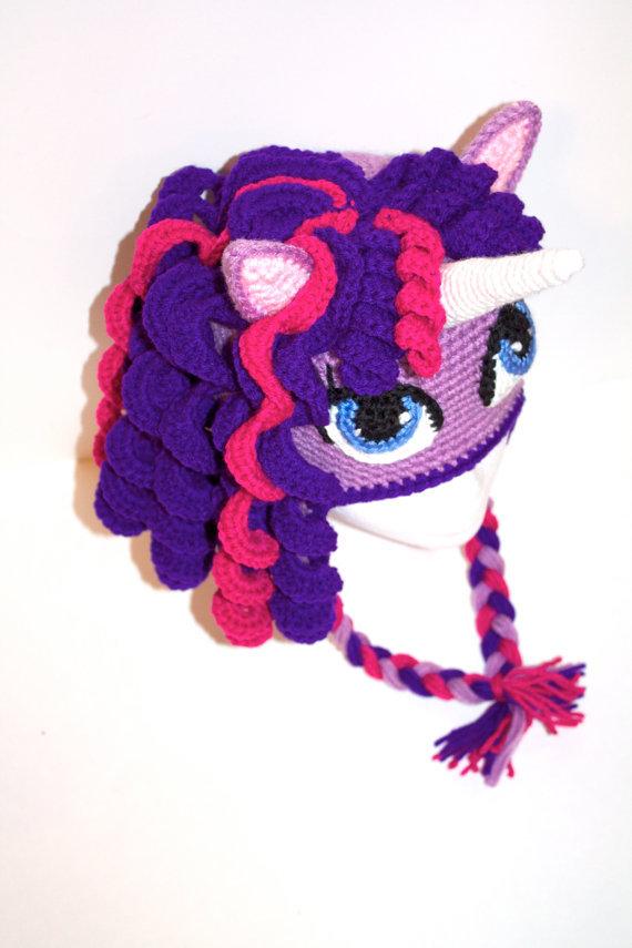 Crochet Pony Hat Pattern Hat Crochet Unicorn/ Pony