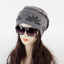 2016 New  High quality   Winter Hats for  women Warm Cap  skullies  beanies double inside fashion(China (Mainland))