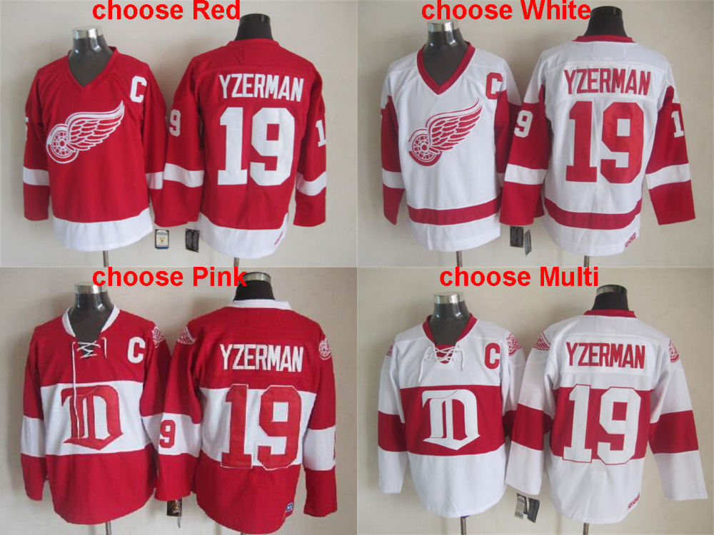 Free Shipping,Wholesale Cheap Ice Hockey 2014 Winter Classic White Jerseys,Detroit #19 Steve Yzerman White Jersey,Mix Order<br><br>Aliexpress