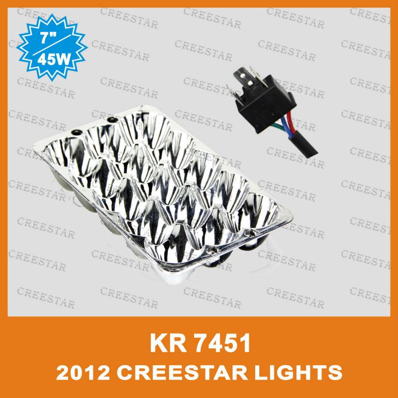 2013 New led truck lamp Product! 45W Off Road Led Light rectangular headlight used for isuzu working lamps KR7451 8pcs/lots FREE(China (Mainland))
