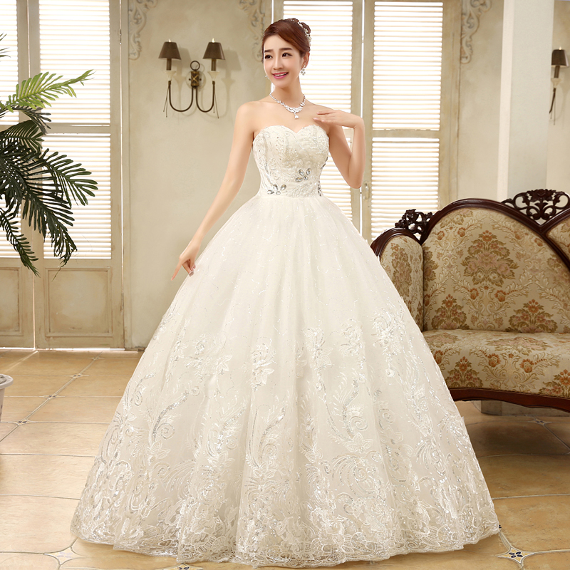 2016 new arrive floor length large size wedding dresses for A big wedding dress